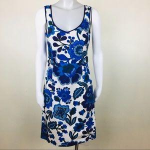 Boden cotton sheath dress oversized floral print